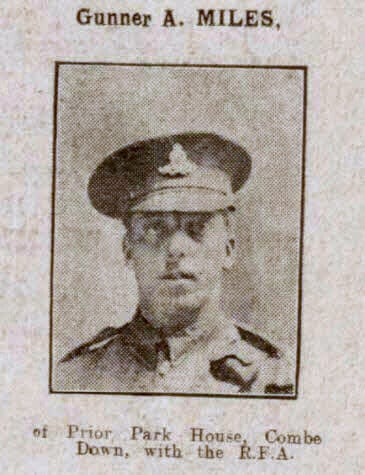 Gunner A Miles - Bath Chronicle and Weekly Gazette - Saturday 13 May 1916