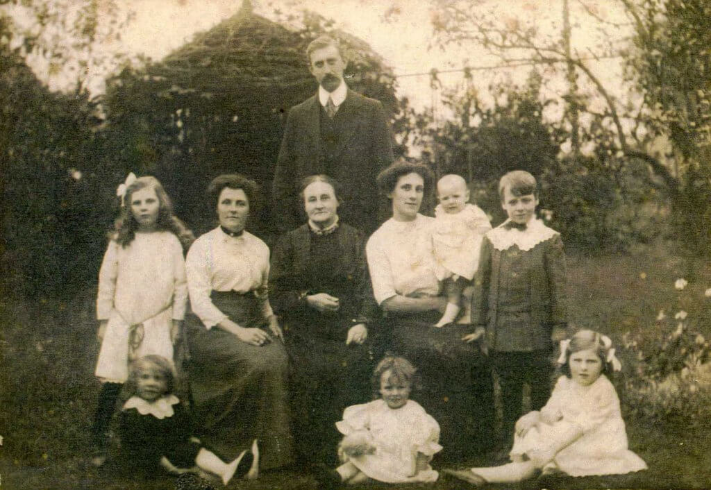 Hamlet family at Combe Down about 1912