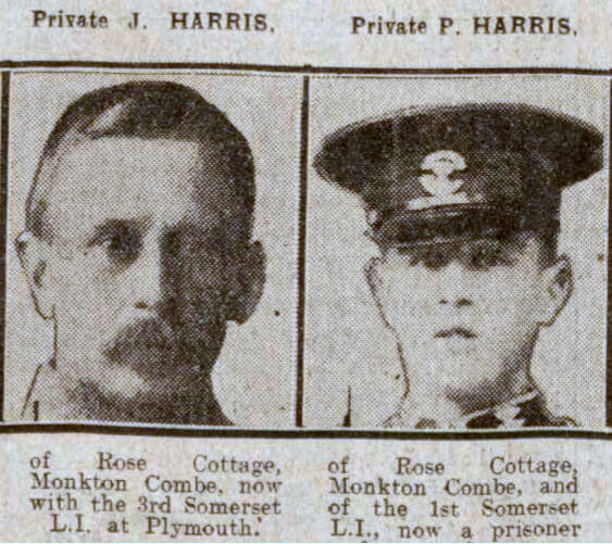 Harris brothers - Bath Chronicle and Weekly Gazette - Saturday 31 July 1915