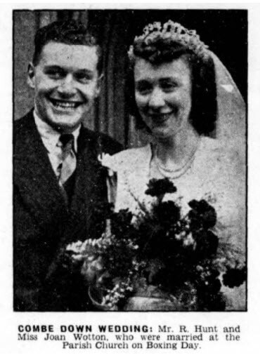 Hunt - Wotton wedding - Bath Chronicle and Weekly Gazette - Saturday 30 December 1950