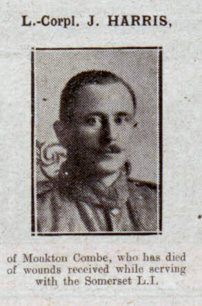 J Harris - Bath Chronicle and Weekly Gazette - Saturday 29 September 1917