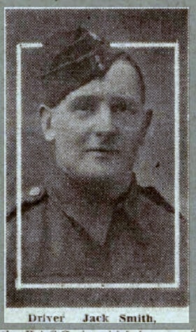Jack Smith whose parent lived at 6 South Parade Cottages, Combe Down is PoW