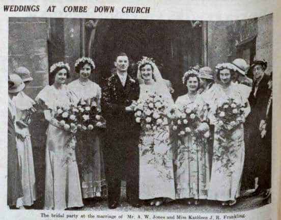Jones - Frankling wedding - Bath Chronicle and Weekly Gazette - Saturday 22 September 1934