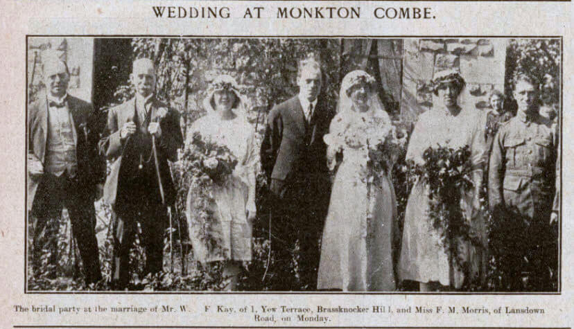 Kay - Morris wedding - Bath Chronicle and Weekly Gazette - Saturday 1 September 1923
