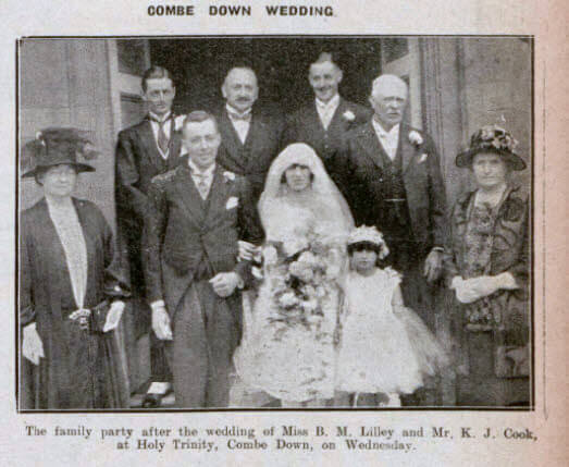 Lilley - Cook wedding - Bath Chronicle and Weekly Gazette - Saturday 18 June 1927