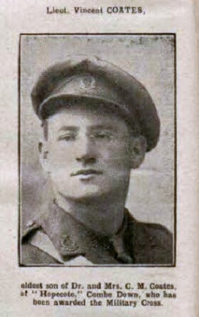 Lt Vincent Coates - Bath Chronicle and Weekly Gazette - Saturday 30 September 1916