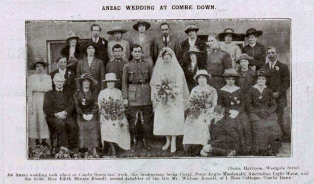 Macdonald - Russell, an ANZAC wedding at Combe Down