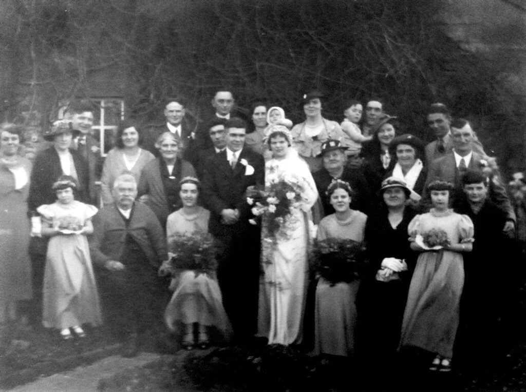 Marriage of Samuel George Miner (1911 - 1987) and Phyllis Perry in 1936
