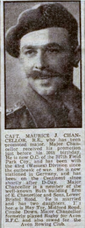 Maurice J Chancellor who lived at Hay Tor, Midford Road, Combe Down