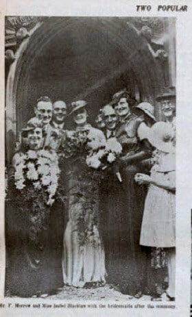 Morrow - Blacklaw wedding - Bath Chronicle and Weekly Gazette - Saturday 22 September 1934