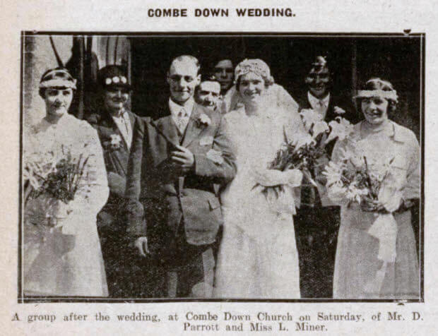 Parrot - Miner wedding - Bath Chronicle and Weekly Gazette - Saturday 5 May 1928