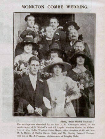 Plummer - Marsh wedding - Bath Chronicle and Weekly Gazette - Saturday 31 December 1921
