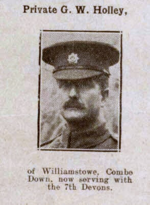Private G W Holley - Bath Chronicle and Weekly Gazette - Saturday 19 January 1918