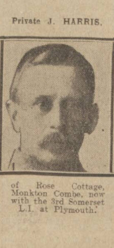 Private J Harris - Bath Chronicle and Weekly Gazette - Saturday 31 July 1915