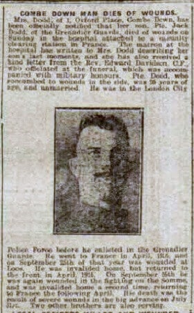 Private Jack Dodd - Bath Chronicle and Weekly Gazette - Saturday 8 September 1917