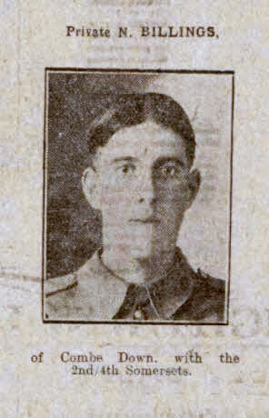Private N Billings - Bath Chronicle and Weekly Gazette - Saturday 20 November 1915
