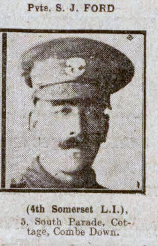 Private S J Ford - Bath Chronicle and Weekly Gazette - Saturday 18 September 1915