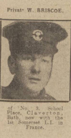 Private W Briscoe - Bath Chronicle and Weekly Gazette - Saturday 31 July 1915