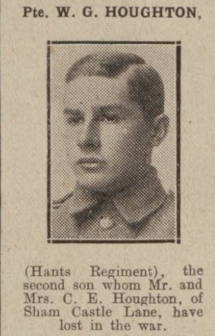 Private W G Houghton - Bath Chronicle and Weekly Gazette - Saturday 1 June 1918
