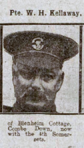 Private W H Kellaway - Bath Chronicle and Weekly Gazette - Saturday 21 August 1915
