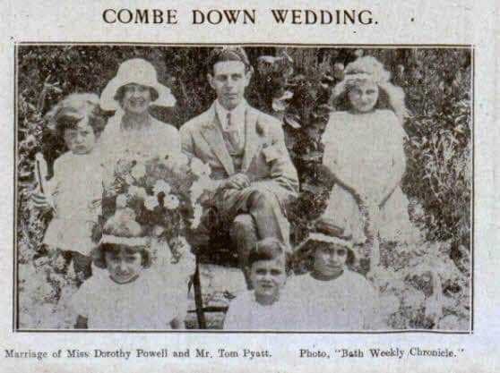 Pyatt - Powell Combe Down wedding - Bath Chronicle and Weekly Gazette - Saturday 23 July 1921