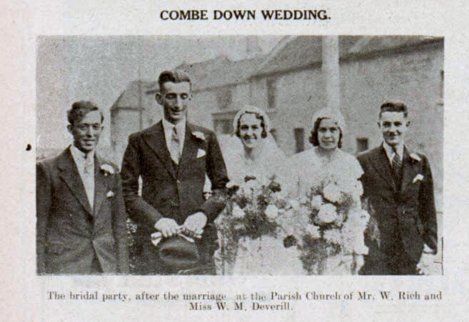Rich - Deverill wedding - Bath Chronicle and Weekly Gazette - Saturday 11 November 1933
