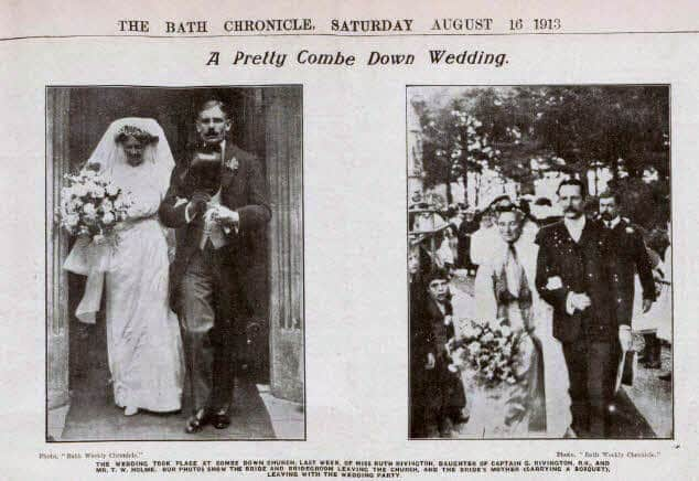 Rivington & Holme wedding - Bath Chronicle and Weekly Gazette - Saturday 16 August 1913