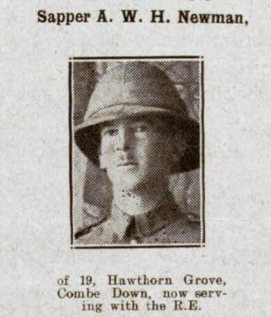 Sapper A W H Newman - Bath Chronicle and Weekly Gazette - Saturday 12 January 1918