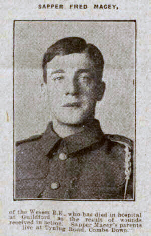 Sapper Fred Macey - Bath Chronicle and Weekly Gazette - Saturday 19 June 1915