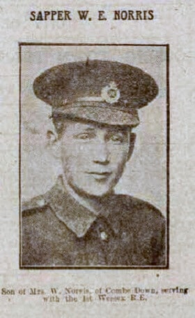 Sapper W E Norris - Bath Chronicle and Weekly Gazette - Saturday 23 January 1915