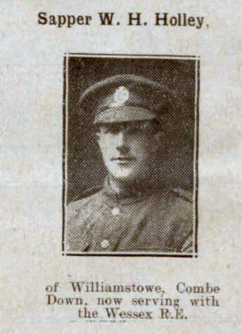 Sapper W H Holley - Bath Chronicle and Weekly Gazette - Saturday 19 January 1918
