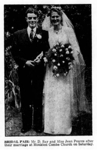 Say - Pearce wedding - Bath Chronicle and Weekly Gazette - Saturday 15 July 1950