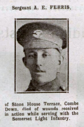 Sergeant A E Ferris - Bath Chronicle and Weekly Gazette - Saturday 21 October 1916