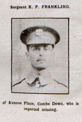 Sergeant K P Frankling - Bath Chronicle and Weekly Gazette - Saturday 23 September 1916