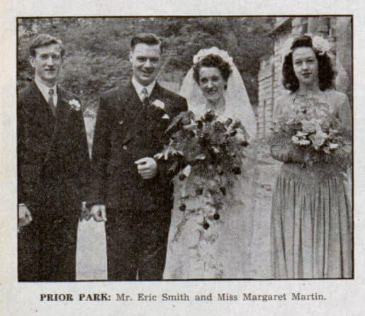 Smith - Marin wedding - Bath Chronicle and Weekly Gazette - Saturday 11 June 1949