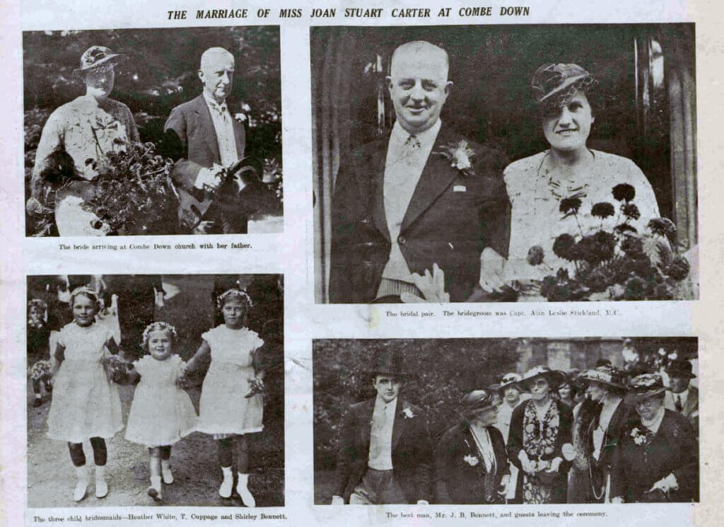 Stickland - Carter wedding - Bath Chronicle and Weekly Gazette - Saturday 7 September 1935