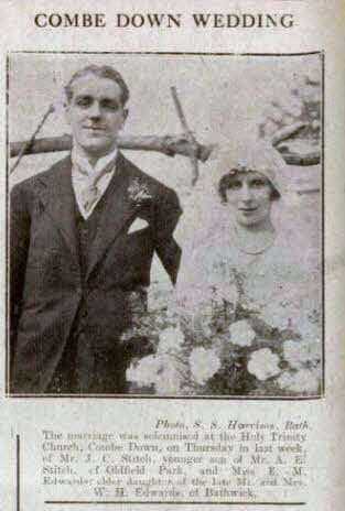 Stitch - Edwards Combe Down wedding - Bath Chronicle and Weekly Gazette - Saturday 4 September 1920