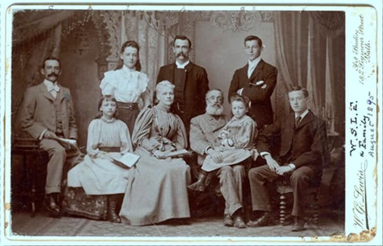 The Le Feuvre family in August 1895 (courtesy Simon Jenkins)