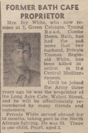 Thomas Reginald White - Bath Chronicle and Weekly Gazette - Saturday 4 September 1943