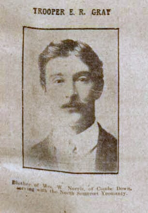 Trooper E R Gray - Bath Chronicle and Weekly Gazette - Saturday 23 January 1915