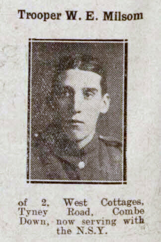 Trooper W E Milsom - Bath Chronicle and Weekly Gazette - Saturday 22 December 1917