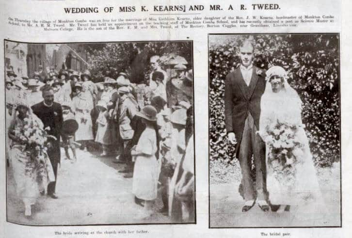 Tweed - Kearns wedding - Bath Chronicle and Weekly Gazette - Saturday 9 August 1924