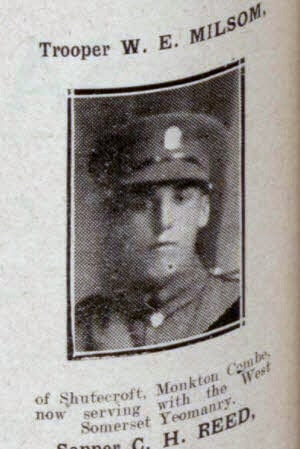 W E Milsom - Bath Chronicle and Weekly Gazette - Saturday 15 September 1917