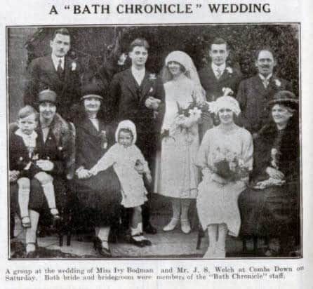 Welch - Bodman, a Bath Chronicle wedding - Bath Chronicle and Weekly Gazette - Saturday 2 May 1925