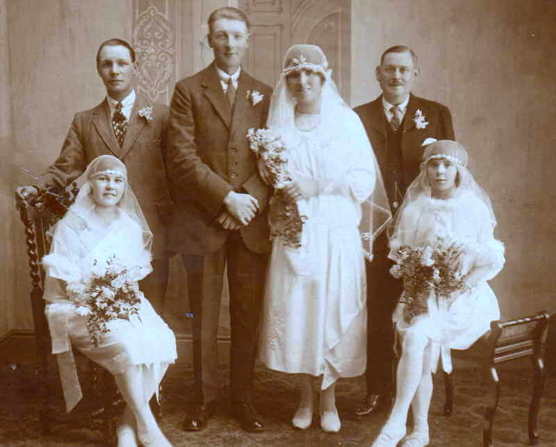 William Arthur Edwin West (1898 - 1978) on his marriage to Lillian Maud Sutton (1899 - 1956) in 1924