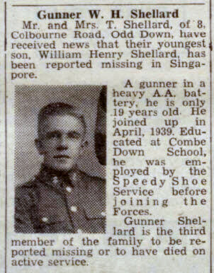 William Henry Shellard - Bath Chronicle and Weekly Gazette - Saturday 18 April 1942