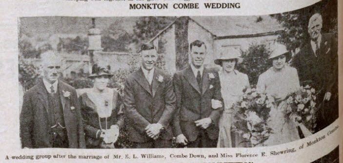 Williams - Shewring wedding - Bath Chronicle and Weekly Gazette - Saturday 1 July 1933