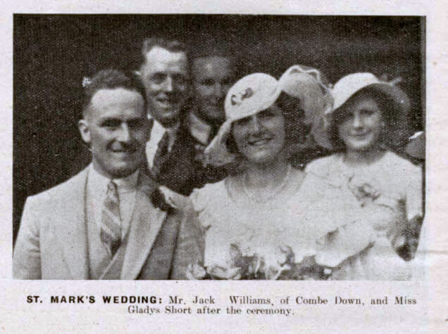 Williams - Short wedding - Bath Chronicle and Weekly Gazette - Saturday 29 June 1935