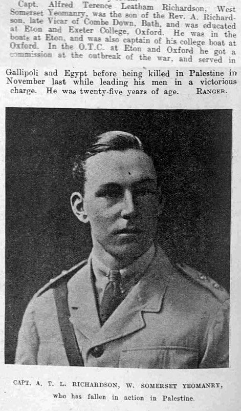A T L Richardson - Illustrated Sporting and Dramatic News - Saturday 16 February 1918