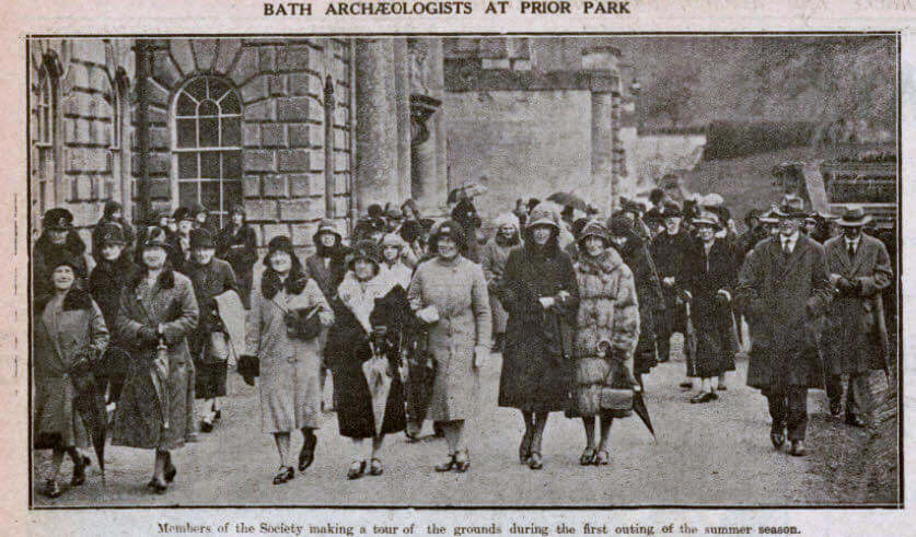 Bath archeologists at Prior Park - Bath Chronicle and Weekly Gazette - Saturday 25 April 1931